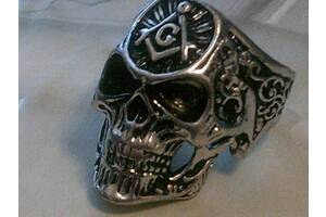 Перстень - масонский череп разм. 21