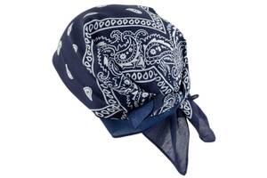 Платок-бандана Traum 2519-06, 54х54 см, синий с рисунком