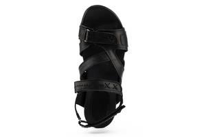 Подростковые босоножки кожаные летние черные-черные StepWey Gamer 7561