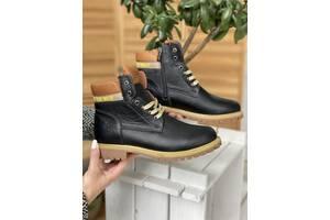 Подростковые ботинки кожаные зимние черные Bastion 18553ч