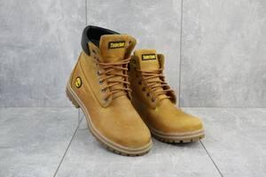 Подростковые ботинки кожаные зимние рыжие Brand 205