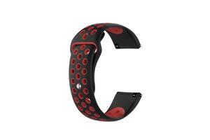 Ремешок для часов Nike design bracelet Universal, 20 мм., Black with red
