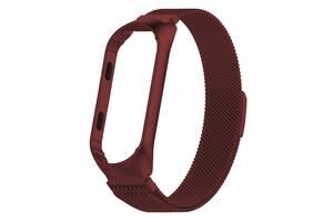 Ремінець для фітнес браслета Xiaomi Mi Band 3 і 4, Milanese design bracelet, Red