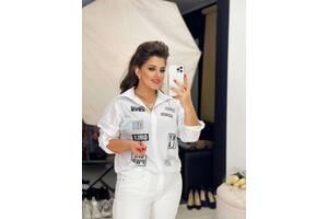 Рубашка с длинным рукавом софт белая SKL11-289850
