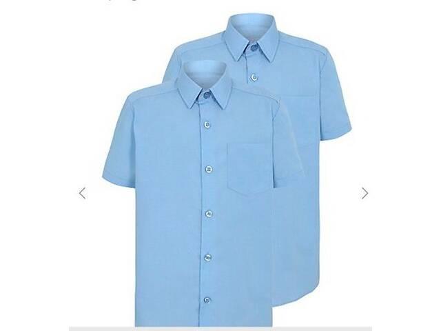 продам Рубашка сорочка George Англия голубая 12-13л 152-158см короткий рукав оригинал шведка подростковая тенниска на мальчика бу в Мариуполе