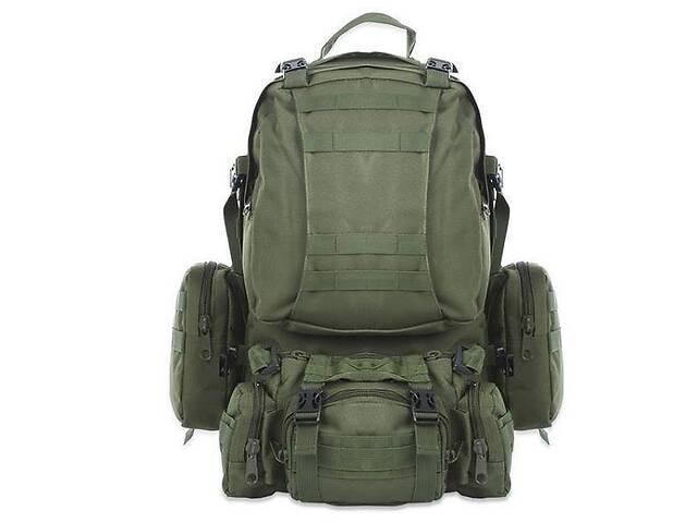 Рюкзак тактический с подсумками Kronos B08 55 л Олива (gr_009359)- объявление о продаже   в Украине