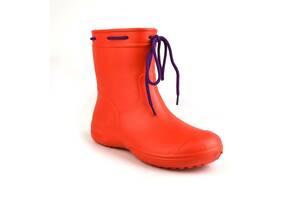 Сапоги женские резиновые EVA Jose Amorales с шнуровкой 37 р Красный (joa_119220_2)