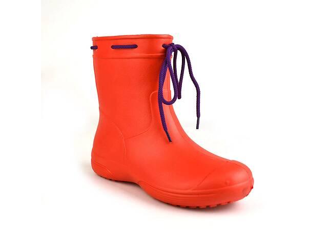 бу Сапоги женские резиновые EVA Jose Amorales с шнуровкой 37 р Красный (joa_119220_2) в Киеве