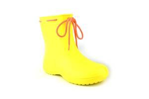 Сапоги женские резиновые EVA Jose Amorales с шнуровкой 39 р Желтый (joa_119210_4)