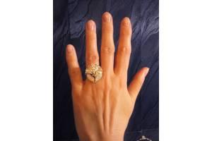 серебряное кольцо с золотом,опалом и цирконами, размер 17.