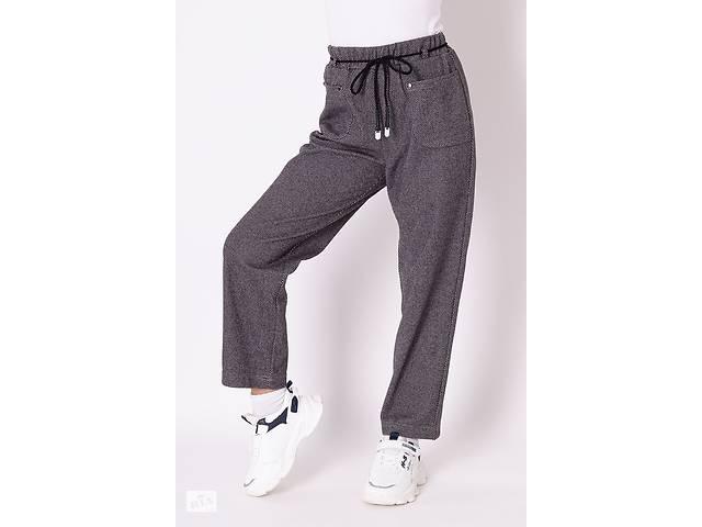 Серые брюки с карманами для девочки в школу Mevis 3586-01
