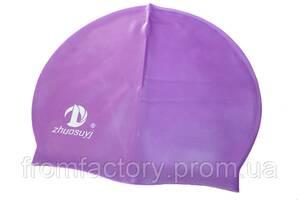 Шапочка для плавання (силіконова):Фіолетовий