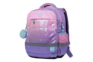 Шкільний рюкзак ортопедичний дівчинці для 1-4 класу YES Girl Power Бузковий (558228)