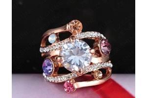 Сделайте себе подарок -шикарное массивное кольцо 17.5 р. позолота