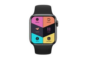 "Смарт-часы Aiver Watch AK76 1.75"" IPS Bluetooth v5.0 Android/iOS Black"