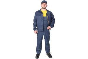 Спецодежда рабочий костюм куртка с полукомбинезоном «Строитель» грета