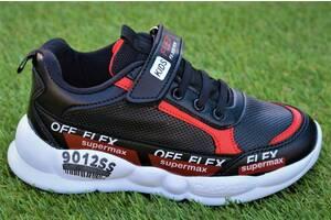 Стильные демисезонные детские кроссовки Nike найк черные красные р31-35