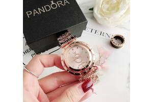 Стильные женские часы Pandora реплика Розовый
