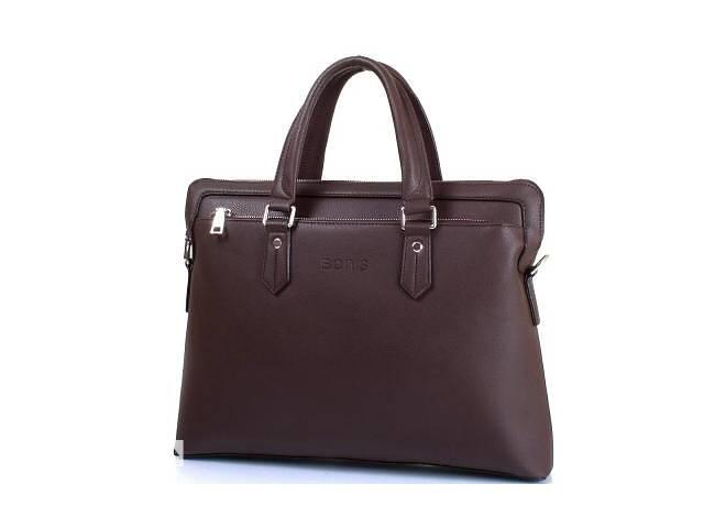 купить бу Сумка повседневная Bonis Мужская сумка из качественного кожезаменителя с карманом для ноутбука с диагональю экрана до... в Одессе