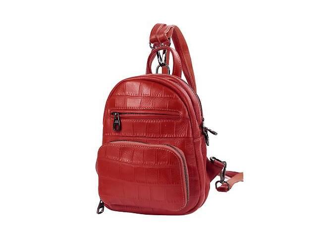 продам Сумка-рюкзак Vito Torelli Рюкзак женский кожаный VITO TORELLI VT-5005-red бу в Одессе
