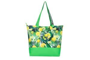 Сумка шоппер размер хl 42х35х12см oxford с лимонным принтом