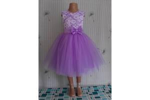 Праздничное детское платье лавандового цвета, модель № 118-а