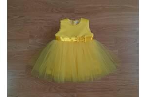 Праздничное платье для самых маленьких, желтого цвета, модель № 111
