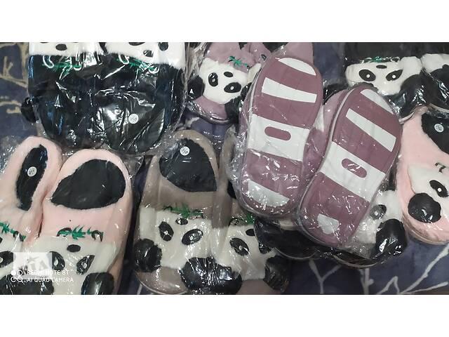 Тапочки панда пушистые  без задника- объявление о продаже  в Києві