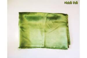 Ткань шелк (подкладочная) темно-салатовая - отрез 50x140 см
