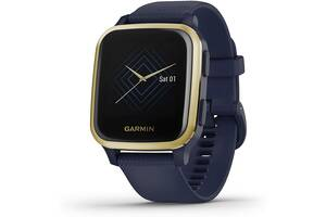 Умные часы Garmin Venu Sq Music Light Gold Aluminum Bezel with Navy Case (010-02426-12)