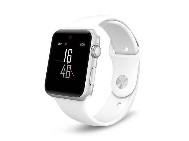 купить бу Умные часы Lemfo LF07 (DM09) со слотом под SIM карту Белый в Киеве