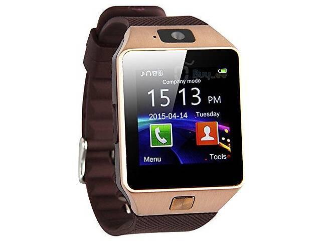 бу Умные часы Smart Watch DZ09 с шагомером Brown (sw012-hbr) в Киеве