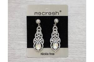 Весільні сережки Mecresh - свадебные серьги, кульчики