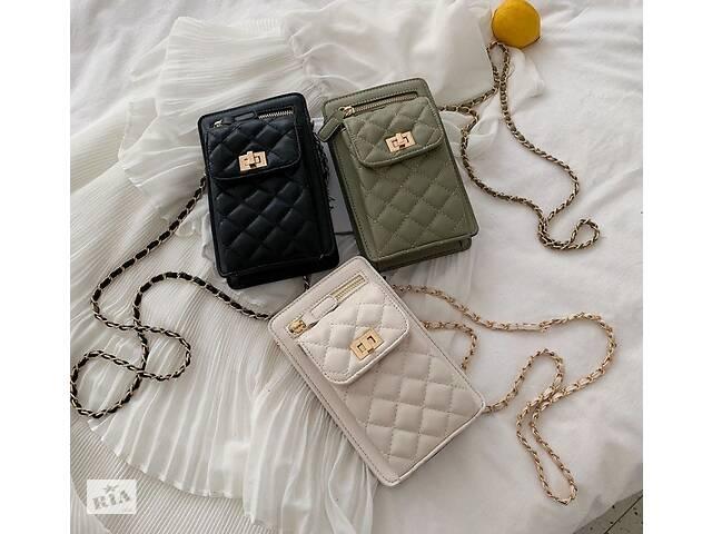бу Женская мини сумочка клатч с цепочкой стеганная, маленькая сумка для девушек, модный женский кошелек-клатч в Днепре (Днепропетровск)