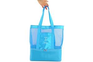 Женская сумка для пляжа Traum 7011-33, голубая