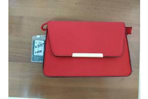 Женская сумка клатч красная