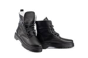 Женские ботинки кожаные зимние черные CrosSAV 150