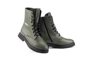 Женские ботинки кожаные зимние оливковые U Spirit 5024