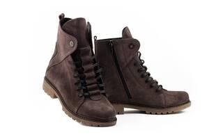 Женские ботинки замшевые зимние бордовые Vikont 7-25-32