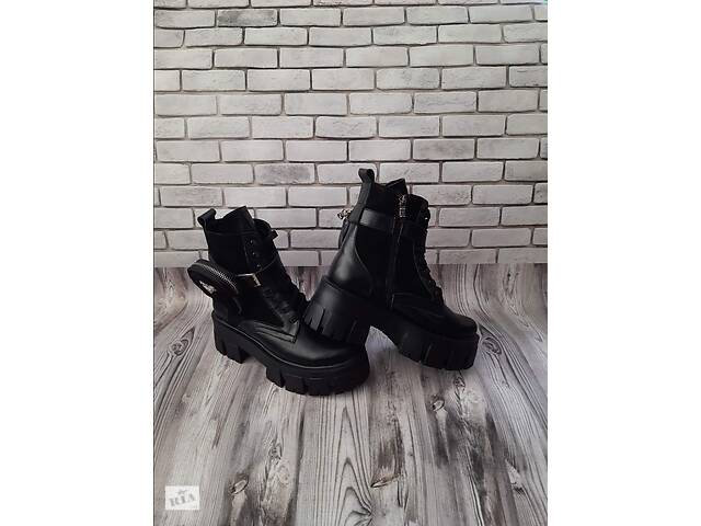 продам Женские кожаные ботинки 00636 бу в Мелитополе
