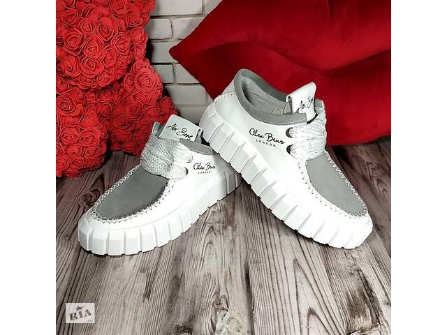 Женские кожаные кроссовки 00636- объявление о продаже  в Мелитополе