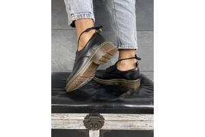 Женские туфли кожаные весна/осень черные Mkrafvt Т120