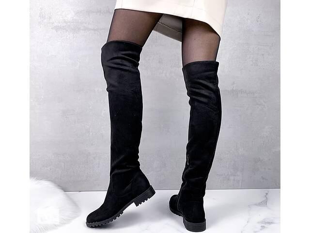 продам Жіночі замшеві чоботи ботфорти деми бу в Києві