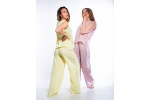 Женский домашний костюм брюки и майка SKL74-293731