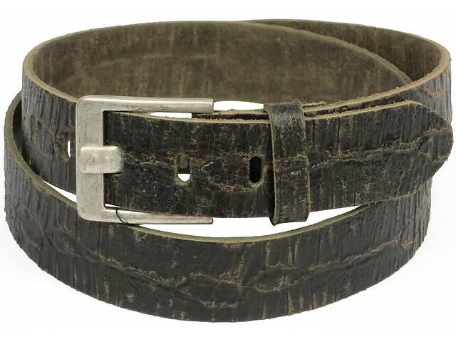 продам Женский кожаный ремень под рептилию, Tom Tailor, Германия, коричневый бу в Киеве