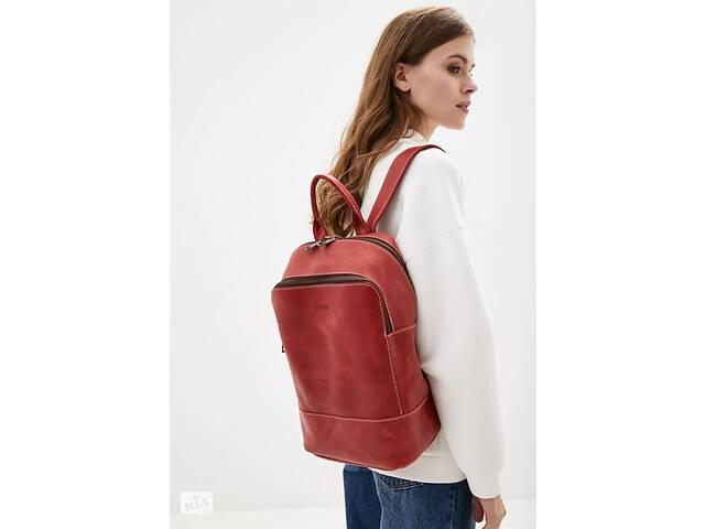 бу Женский красный кожаный рюкзак TARWA  среднего размера TRWRR-2008-3md в Киеве