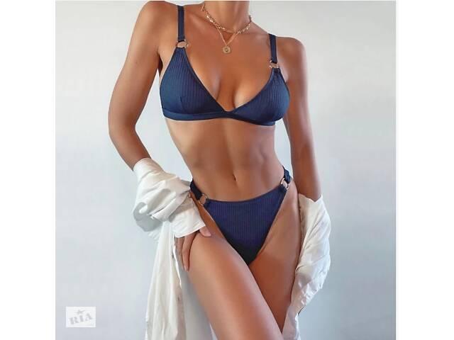 бу Жіночий роздільний купальник. синій купальник класичний AL-9328-50 в Хмельницькому