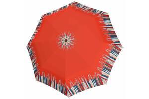 Женский зонт полуавтомат Doppler оранжевый