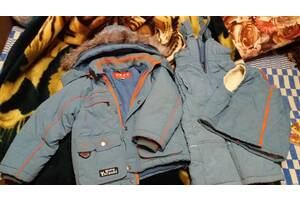 Зимняя куртка+комбез на мальчика 4-5лет