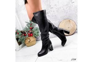 Зимові жіночі чоботи на підборах, чоботи на зиму 36-40р